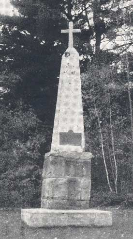 Monument to Father Sebastian Rasle erected in 1833